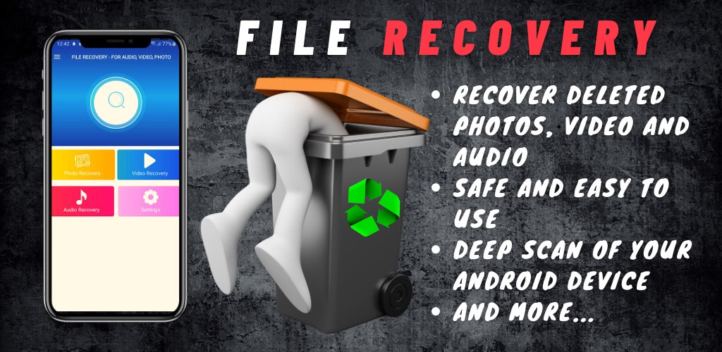 File Recovery – for audio, video, photo