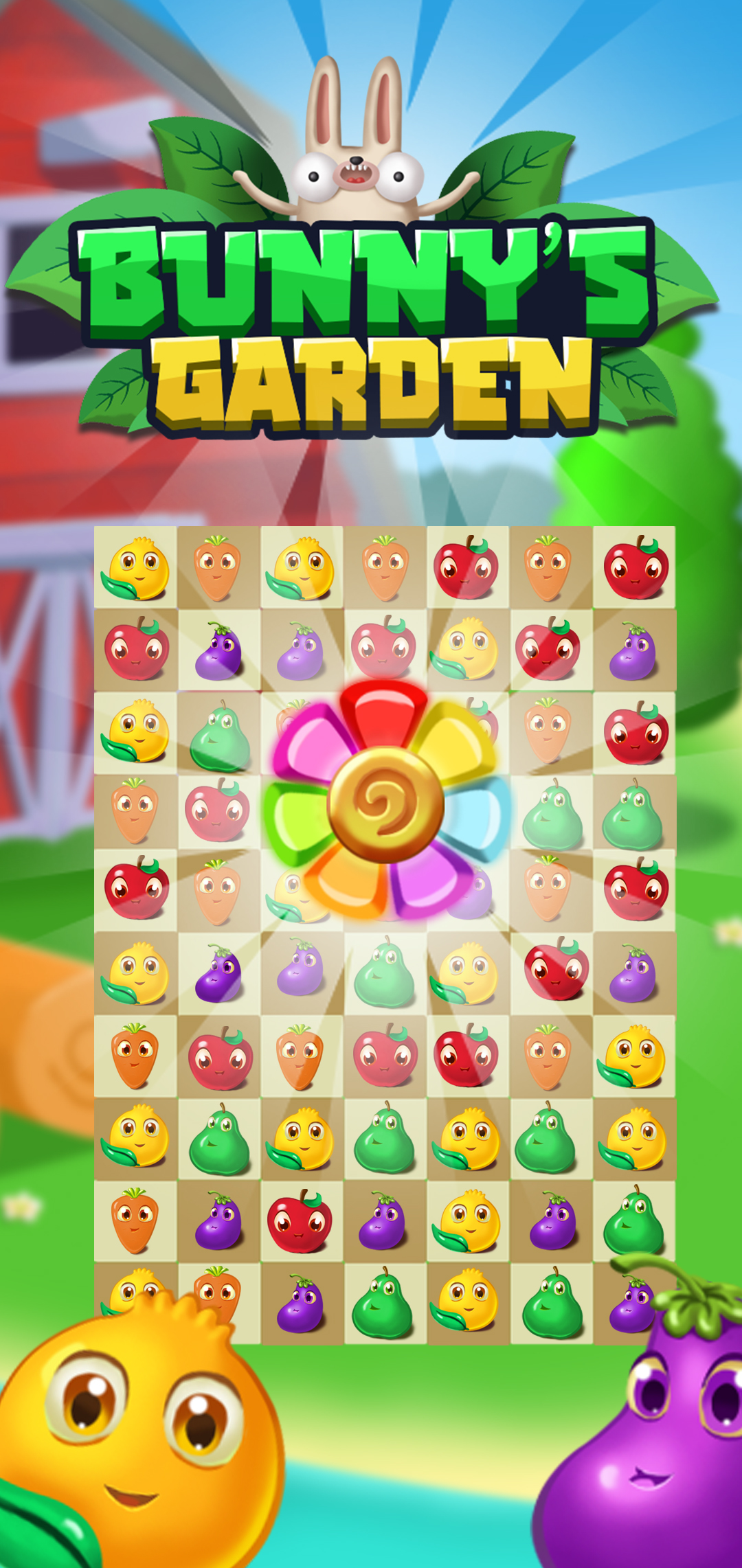 Bunny's Garden – Match 3 Puzzle